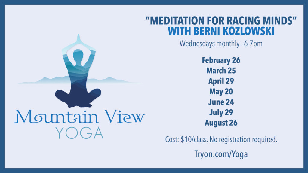 Meditation for Racing Minds by Berni K 2020 Schedule at Tryon Equestrian Center